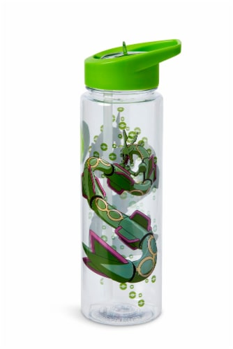 Pokemon Rayquaza 16oz Water Bottle - BPA-Free Reusable Drinking Bottles Perspective: front