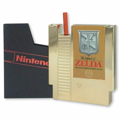 Legend of Zelda 5oz Gold Cartridge Canteen Perspective: front