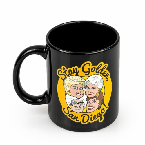 The Golden Girls Stay Golden San Diego Ceramic Mug | 11 Ounces| Golden Girls Mug Perspective: front