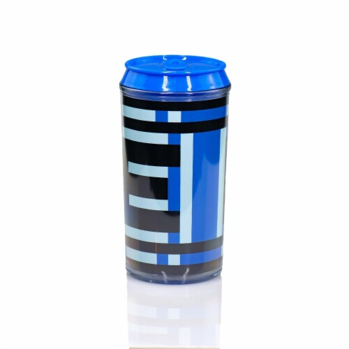Mega Man Official Energy Tank Travel Can | E-Tank Can Holds Your Favorite Drink Perspective: front