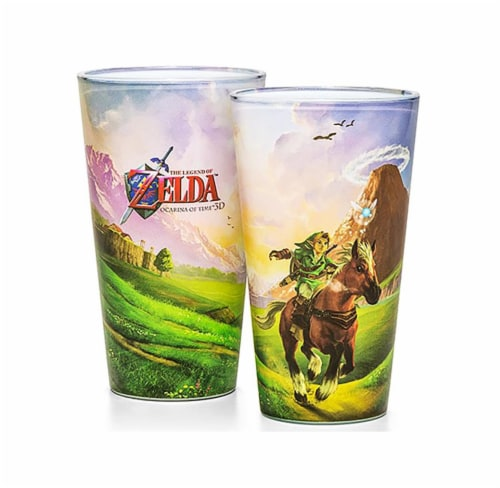 The Legend of Zelda Ocarina of Time Pint Glass Perspective: front