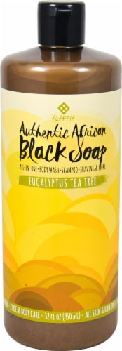 Alaffia Authentic African Black Soap Eucalyptus Tea Tree Perspective: front