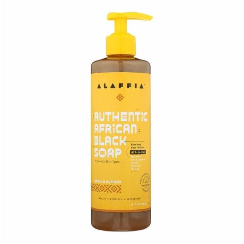 Alaffia - African Black Soap - Vanilla Almond - 16 fl oz. Perspective: front