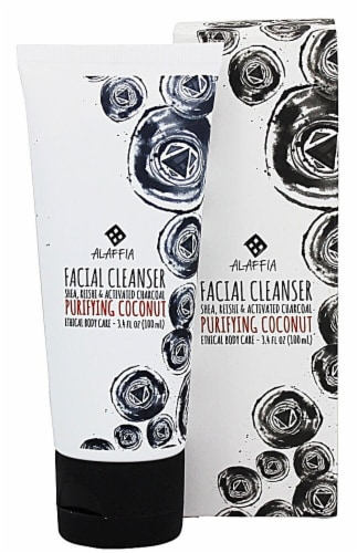 Alaffia Purifying Coconut Reishi Facial Cleanser Perspective: front