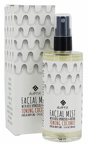 Alaffia Toning Coconut Resihi Rose Facial Mist Perspective: front