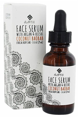 Alaffia  Face Serum with Argan and Reishi Coconut Baobab Perspective: front