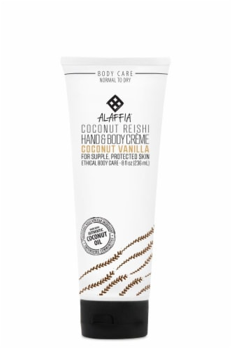 Alaffia Coconut Reishi Coconut Vanilla Hand & Body Creme Perspective: front