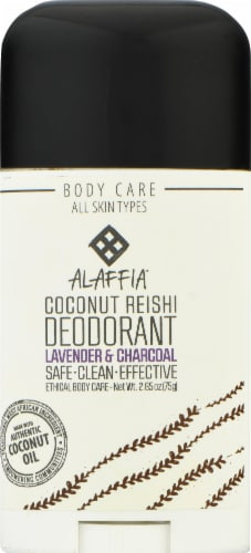Alaffia Activated Charcoal & Reishi Coconut Lavender Deodorant Perspective: front
