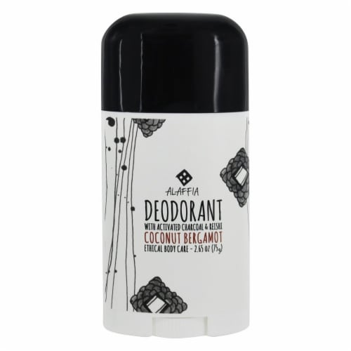 Alaffia Activated Charcoal & Reishi Coconut Bergamot Deodorant Perspective: front