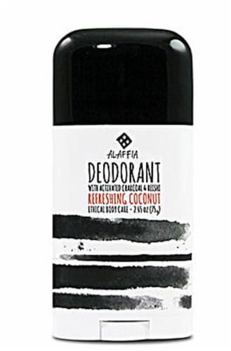 Alaffia Activated Charcoal & Reishi Refreshing Coconut Deodorant Perspective: front