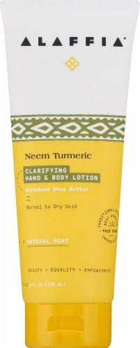 Alaffia Neem Turmeric Clarifying Hand & Body Lotion Perspective: front