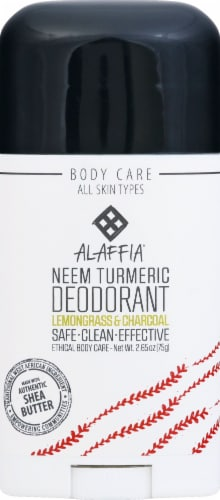 Alaffia Neem Lemongrass & Charcoal Turmeric Deodorant Perspective: front