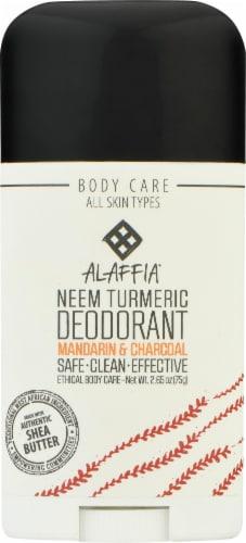 Alaffia Neem Mandarin & Charcoal Turmeric Deodorant Perspective: front