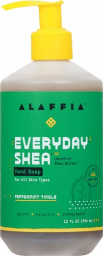 Alaffia Everyday Shea Peppermint Tingle Hand Soap Perspective: front