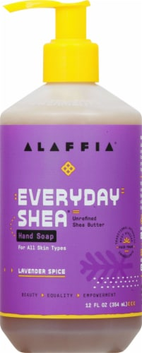 Alaffia Everyday Shea Lavender Spice Hand Soap Perspective: front