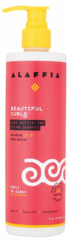 Alaffia Beautiful Curls Curl Activating Cream Shampoo Perspective: front