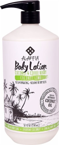 Alaffia Coconut Lime Body Lotion Perspective: front