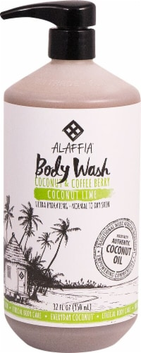 Alaffia Everyday Coconut Lime Body Wash Perspective: front