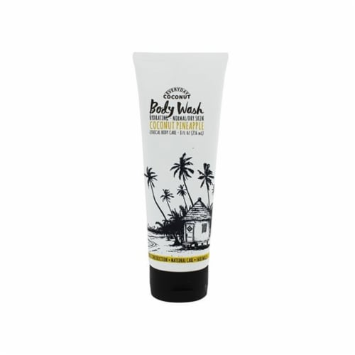 Alaffia Coconut Hydrationg Body Wash Coconut Pineapple, 8 Ounces Perspective: front