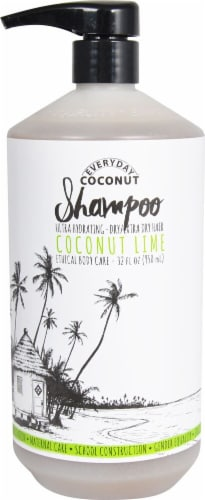 Alaffia Everyday Coconut Ultra Hydrating Coconut Lime Shampoo Perspective: front