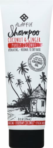 Alaffia Everyday Purely Coconut Shampoo Perspective: front