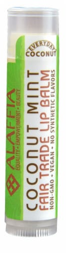 Alaffia Everyday Coconut Mint Fair Trade Lip Balm Perspective: front