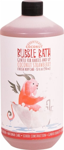 Alaffia  Everday Day Coconut® Bubble Bath For Babies and Up Coconut Strawberry Perspective: front