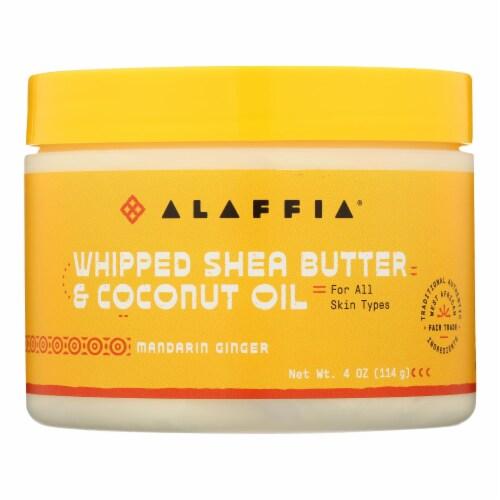 Alaffia - Whiped Shea Butter Mandarin Ginger - EA of 1-4 OZ Perspective: front