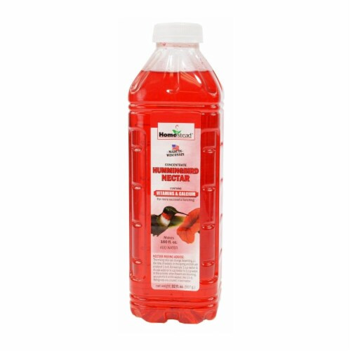Homestead 4371 32 oz Hummingbird Red Liquid Nectar Sugar Concentrate Perspective: front