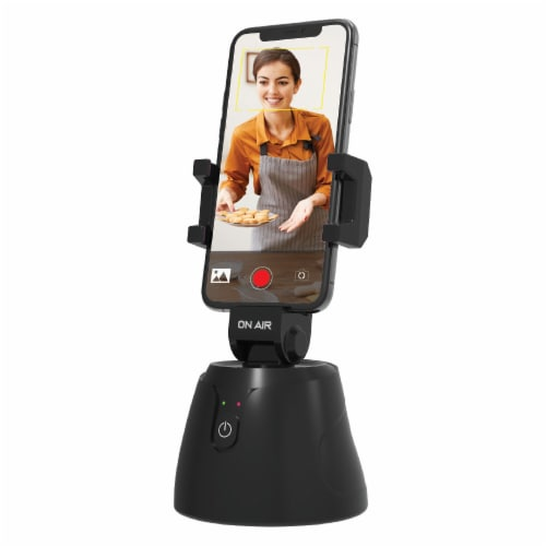Tzumi Intellitrack 360 Camera Motion Tracking Phone Holder - Black Perspective: front