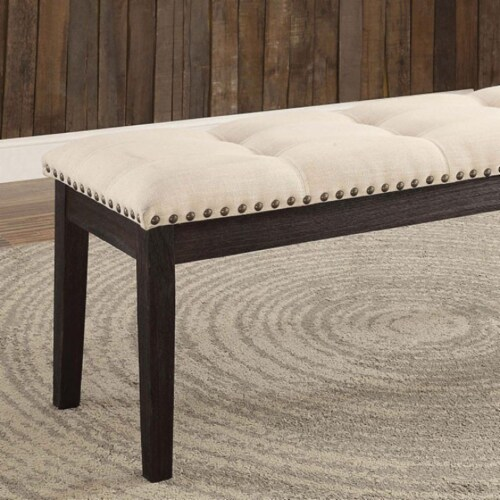 Dodson I Contemporary Bench, Ivory Perspective: front