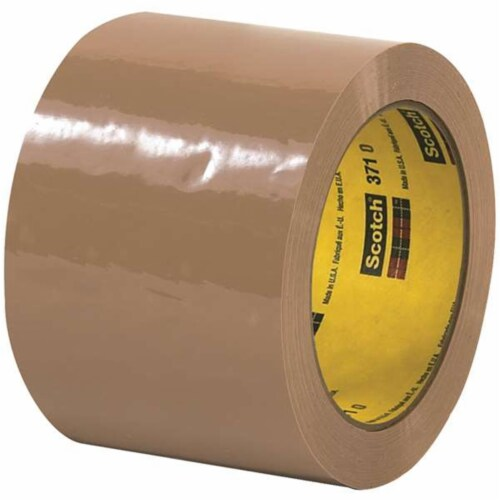 Scotch T905371T6PK 3 in. x 110 yards Tan 371 Carton Sealing Tape - Pack of 6 Perspective: front