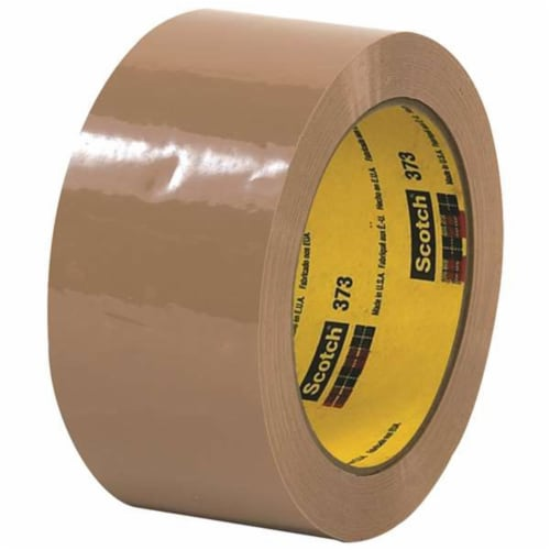 Scotch T902373T6PK 2 in. x 110 yards Tan 373 Carton Sealing Tape - Pack of 6 Perspective: front