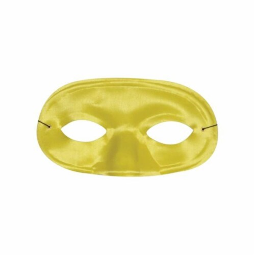 Morris Costumes TI60YW Half Domino Mask Yellow Perspective: front
