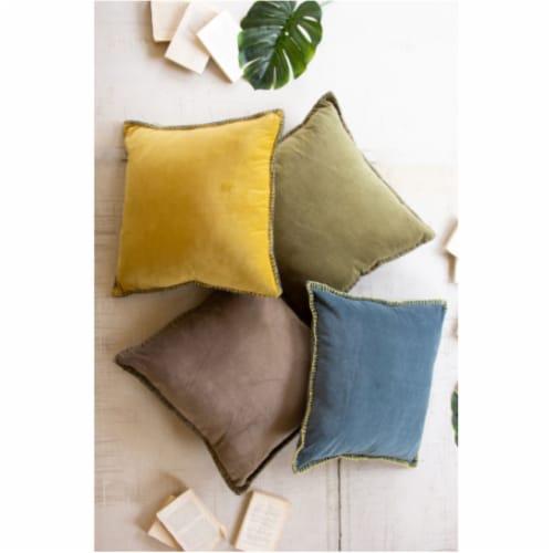 Velvet Throw Pillow - Blue Steel 24  X 24 T Perspective: front