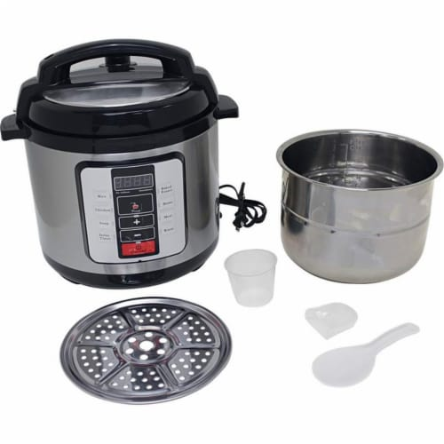 Precise Heat KTELPCS Electric Pressure Cooker Stainless Steel inner Pot - 6.3 qt Perspective: front