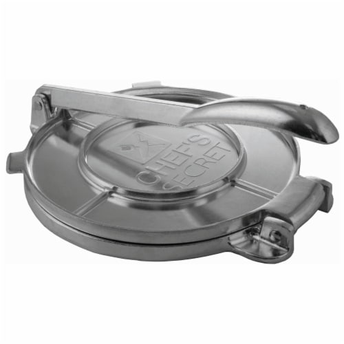 Chef's Secret 8 Inch Tortilla Aluminium Press Perspective: front