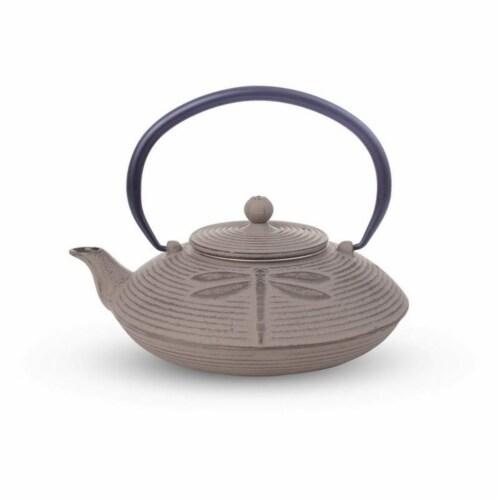 BNF KTCITPGRY Chef Secret Cast Iron Tea Pot, Grey Perspective: front
