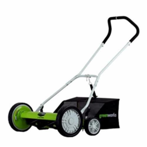 Greenworks 25062 18 in. 5-Blade Reel Mower Perspective: front