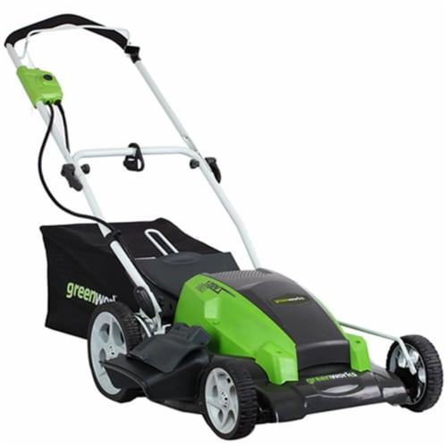 Greenworks 25112 21 in. 3-in-1 Electric Mower Perspective: front