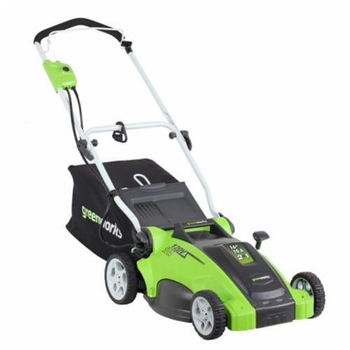 Greenworks 25142 16 in. 2-in-1 Electric Mower Perspective: front