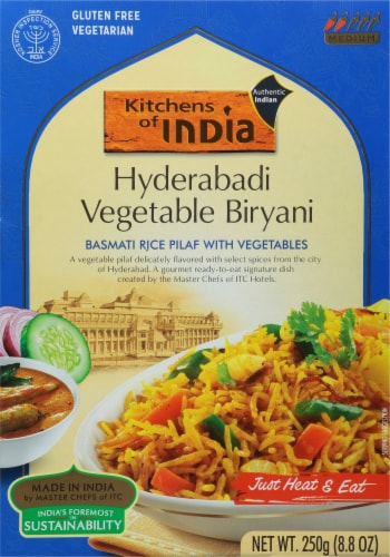 Kitchen Of India Basmati Rice Pilaf With Vegetables Perspective: front