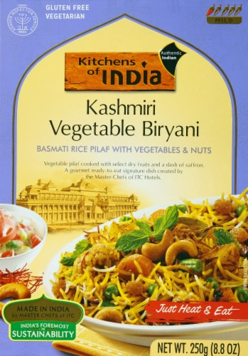 Kitchens of India Basmati Rice Pilaf with Vegetable and Nuts Perspective: front