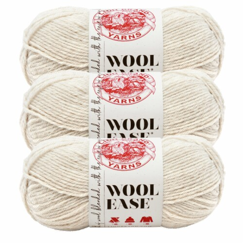 Lion Brand Yarn 620-098 Wool-Ease Yarn Skeins - Natural Heather Perspective: front