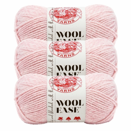Lion Brand Yarn 620-104 Wool-Ease Yarn Skeins - Blush Heather Perspective: front
