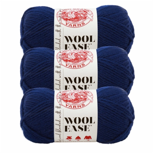 Lion Brand Yarn 620-111 Wool-Ease Yarn Skeins - Navy Perspective: front