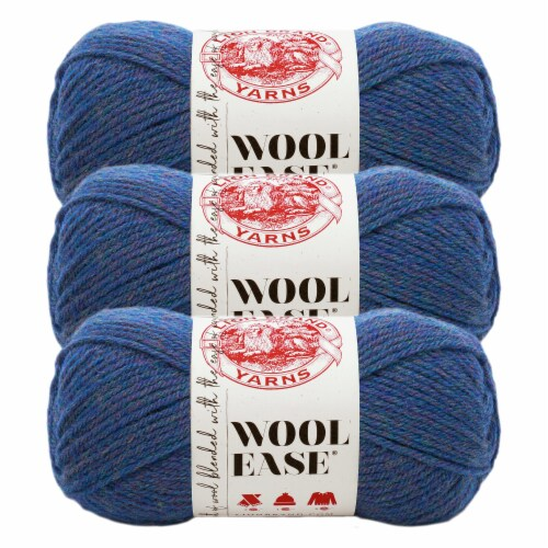 Lion Brand Yarn 620-115 Wool-Ease Yarn Skeins - Blue Mist Perspective: front
