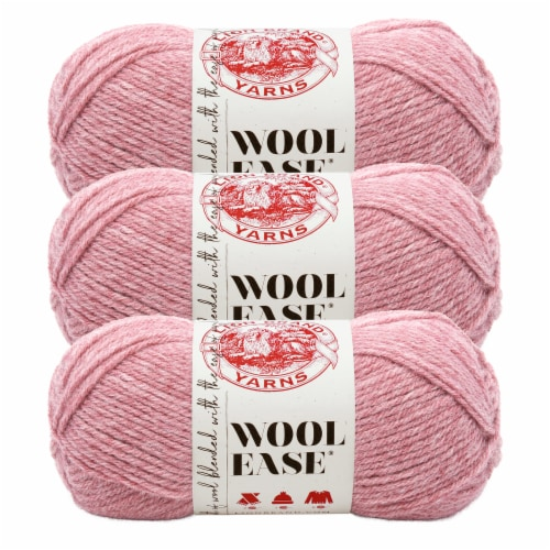 Lion Brand Yarn 620-140 Wool-Ease Yarn Skeins - Rose Heather Perspective: front