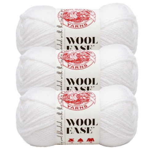 Lion Brand Yarn 620-301 Wool-Ease Yarn Skeins - White/Multi Perspective: front