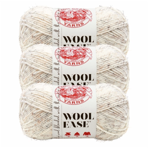 Lion Brand Yarn 620-402 Wool-Ease Yarn Skeins - Wheat Perspective: front